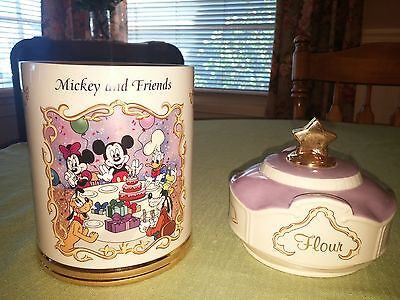 "Animated Classics Disney ""Flour"" Canister By Lenox    ""Mickey and Friends"""