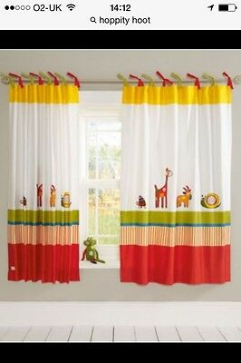 Mamas&Papas Curtains And Lantern Hoppity Hoot. New.