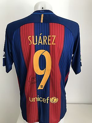 football shirt Barcelona 9 Suarez blaugrana signed sign trikot shirt rare jersey