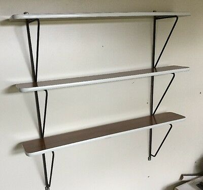Vintage Mid Century Formica String Shelving Unit