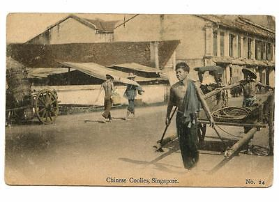 SINGAPORE - CHINESE COOLIES, SINGAPORE c 1919 (24)