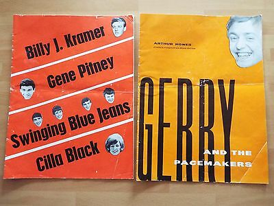 Two 1960's Pop Programmes Gerry Pacemakers Cilla Pitney Ben E King Blue Jeans