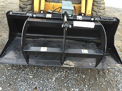 "New 66""  Grapple Bucket Skid Steer/Tractor  Brush Bucket -Bobcat, Case, Cat, etc"
