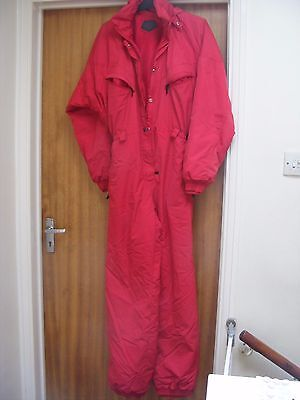 Killy Snow Suit Ski Suit Ladies Red Uk 12 French Design  Immaculate Used Once