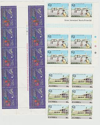 Zambia marginal pieces with Imprint etc