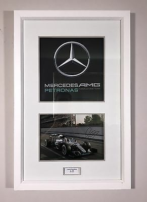 Lewis Hamilton Signed - Limited Edition GP F1 Mercedes Framed Picture - COA