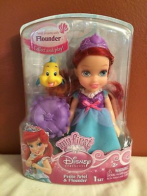 Disney My First Disney Princess Petite Ariel and Flounder Set New