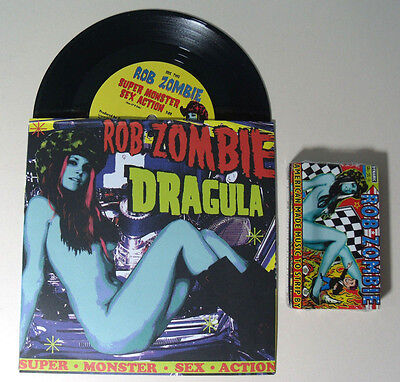 "ROB ZOMBIE Dragula RARE 7"" VINYL & American Made Music to Strip By CASSETTE TAPE"