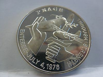 Peace Medal 1976 Uganda Silver Entebbe Uganda Coin....operation Jonathan