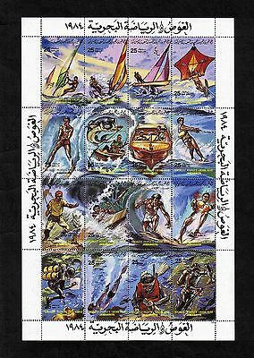 Libya 1984 Water Sports complete set of 16 values (SG 1432-1447) MNH