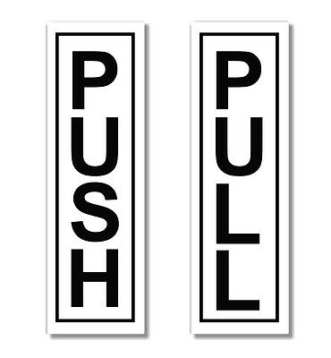 1x Push & 1x Pull - Door Sticker Sign -  Self Adhesive Office - Shop Decal