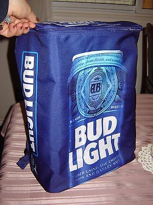 Bud Light Beer Can Promo Cooler Backpack - New!  Holds 24 Cans