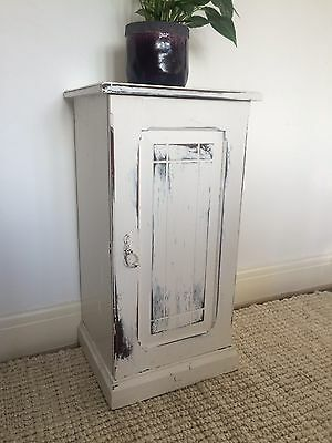 Vintage/antique Mahogany Pot Cupboard Shabby Chic White