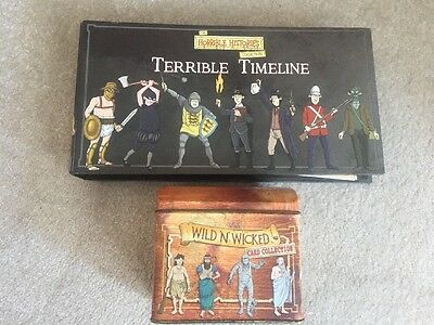 Horrible Histories Collection-Terrible Timeline with Files & Wild n Wicked Cards