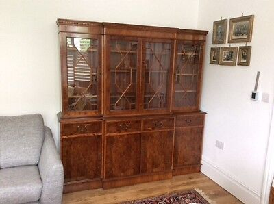 vintage glass display cabinet, dresser, in Yew wood from Selfridges was £2000!