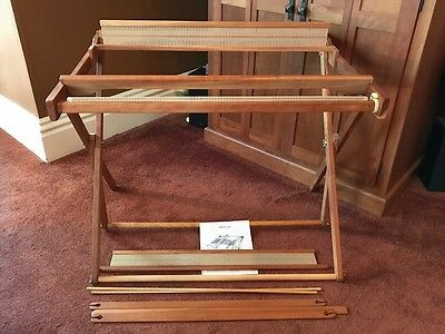RL 32 Inch Beka Rigid Heddle Loom, w Floor Stand, 1977, Unused, 2 Heddles