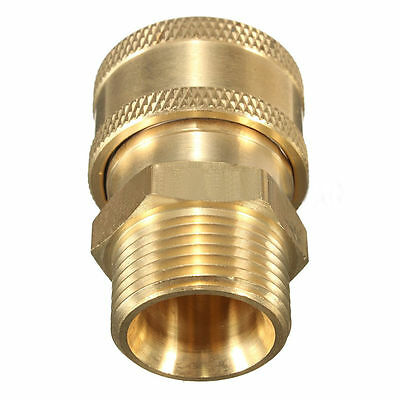 "3/8"" Quick Release Adapter Non Standard M22 Metric(15mm)For Pressure Washer Hose"