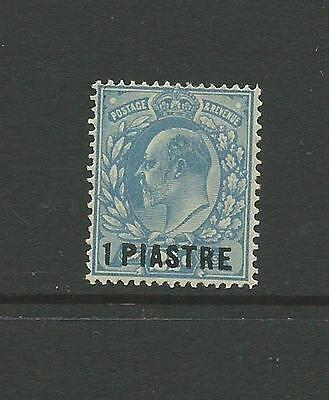Br. Levant 1p on 2½d Dull blue SG27a fine mtd mint, Cat.£32.