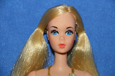 rare european Partytime Barbie, real eyelashes 1977