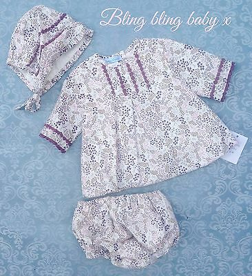Baby Girls Spanish Dress Martin Aranda 3 Piece Set Outfit 3-6 Months Romany