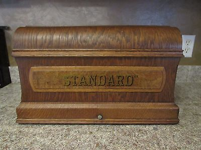 """Vintage Wood Coffin """"Standard"""" Sewing Machine Cover Lined"""
