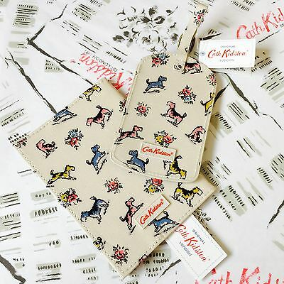 Genuine CATH KIDSTON Billie Dog & Friends Passport Cover & Luggage Tag - NEW