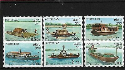 Laos Sg559/64, 1982 River Craft Mnh