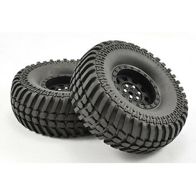 Fastrax 1:10 Crawler Paso 1.9 Tyre Scale Wheel Black (Pair) - FAST1260B