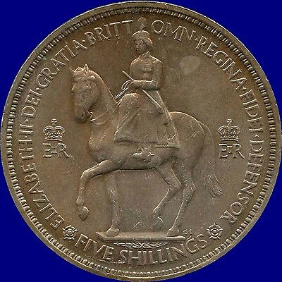 "1953 Great Britain 1 Crown ""5 Shillings"" Coin"