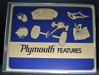 1972 Plymouth Features Dealer Album Book Barracuda Satellite Road Runner Duster