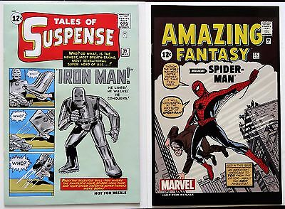 Tales of Suspense #39, Amazing Fantasy #15-1st apps.Iron Man/Spiderman-reprints