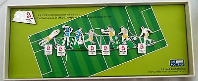 Beijing Olympics Football Puzzle Pins Set Limited Edition Rare New