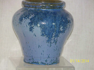 *Rafco Fulper* Antique Crystalline Ice Blue Glaze Art Pottery Vase