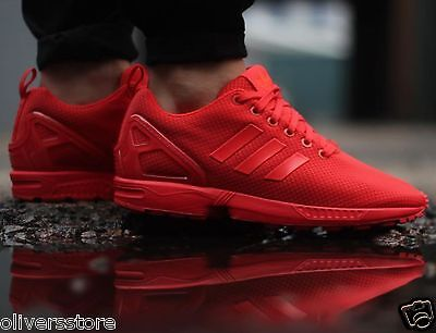 adidas Originals Mens ZX Flux Trainers Red