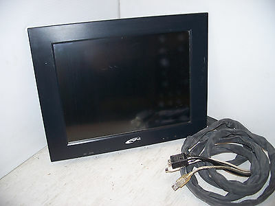 """DigiPoS Systems 714A 15"""" Flat Panel Touchscreen LCD Monitor w/ Cables, No Stand*"""