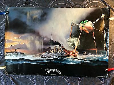 ORIGINAL WAR OF THE WORLDS POSTER - Rare. Sci-fi, Jeff Wayne, Musical
