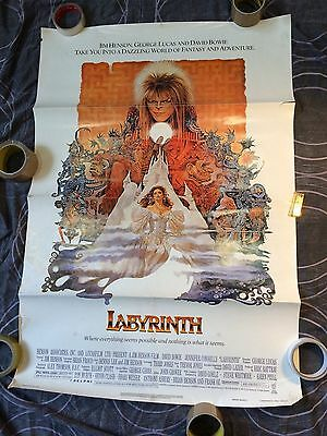 Labyrinth Original US One Sheet Poster- 1986. Henson, Bowie & Lucas.
