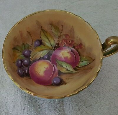 Aynsley Orchard Fruit Pattern Cup Only Signed Jones