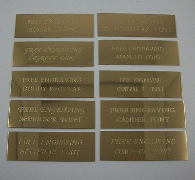 "Custom Engraved 2"" x 6""  Brass Trophy, Sign Name Plate ."