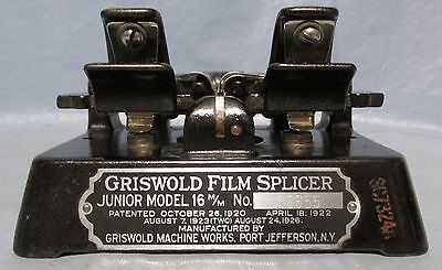 VINTAGE Griswold FILM SPLICE Jr. Splicer for 16mm and 8mm Film one tenth inch