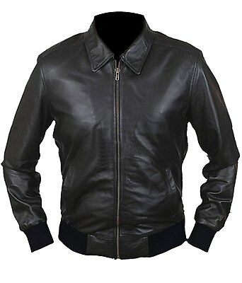 *SALE* Happy Days Fonzie Henry Winkler Real Grade A Leather / Faux Bomber Jacket