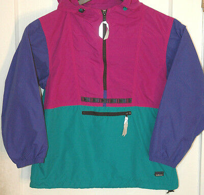 Vtg L.L BEAN Pullover Jacket COLORBLOCK Colorful NAVAJO Youth L LADIES Women's