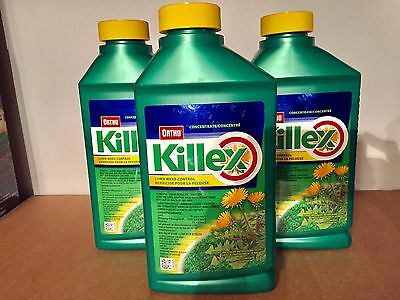 3 Bottles - Ortho Killex® Lawn Weed Control 1L Concentrate - Expedited Shipping