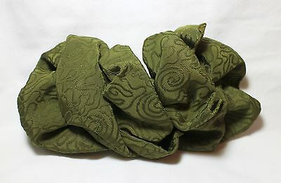 New Vintage Large Green Bow Hair Barrette Clip