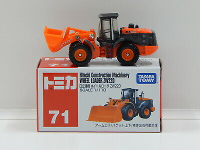 1:110 Hitachi Construction Machinery Wheel Loader ZW220 - Made in Vietnam Tomica