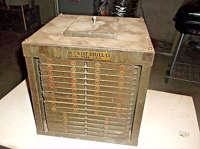 Vintage Union Twist Drill Co.  Rotating Display Stand Store Display