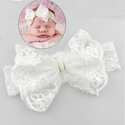 Hair Accessories Girls Turban Headwear Baby Headband Bow Pearl Lace Hair Band