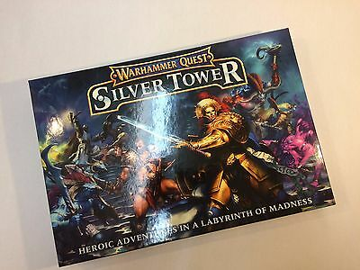 Warhammer Silver Tower-  Rule Books, Tiles, Dice, Character Cards (No Models)