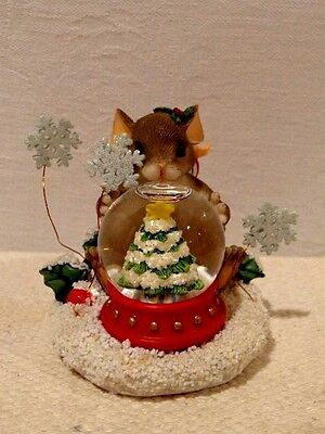 """Fitz & Floyd Charming Tails """"May All Your Christmases Be White"""" Item : 87/133"""