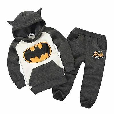 Boys Hoodie Jumper and Pants Batman set outfit - Size 2 - 3 Very cute BNWT